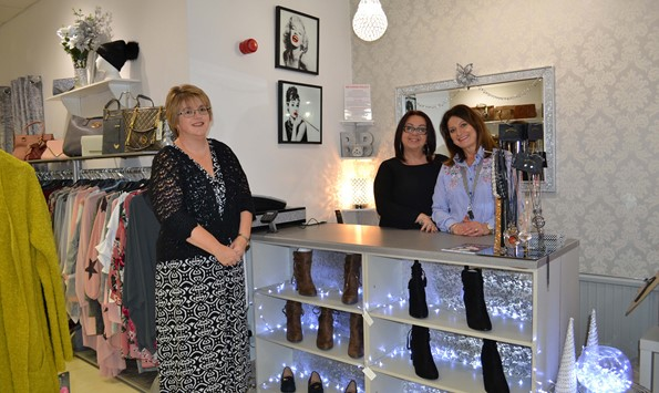 Melanie Jenkins, Assistant Property Manager at Quayside Properties, with Jacquelyn Morrell and Rachel Stanmore of Boobaloo Boutique