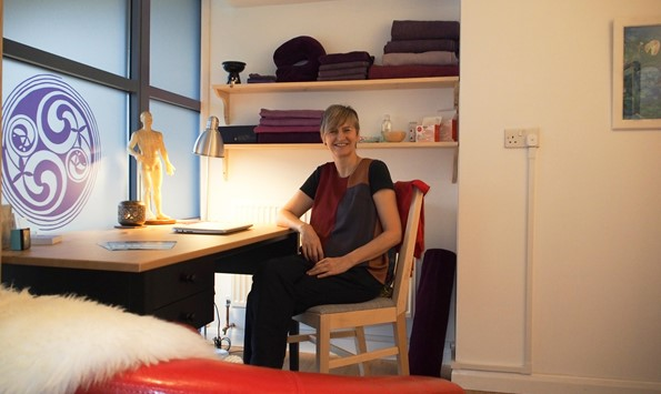 Louise Wiseman of Haven Acupuncture in her new premises